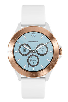 Harry Lime White Rose Gold Smart Watch HA07-2004