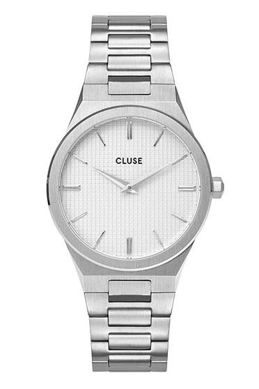 Cluse Vigoureux 33 Silver/Snow White Silver Watch CW0101210003