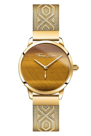 Pierre Lannier Eolia Gold White/Gold Mesh Watch 046G508 | Bijoux
