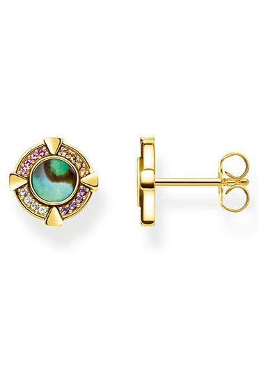 Thomas Sabo Ear Studs Abalone Mother-of-pearl Gold TH2035Y