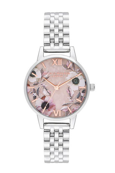 Olivia Burton Semi Precious Silver Bracelet Watch OB16SP07