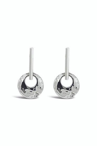 Ichu Bar'd Circle Drop Earrings EY0307