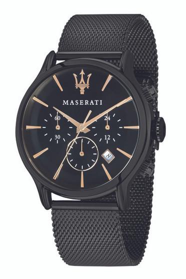 Maserati Epoca 42mm Black Steel Mesh Watch R8873618006