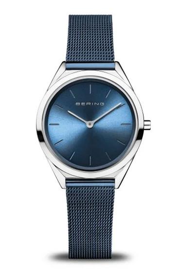 Bering Ultra Slim Blue Mesh Watch 17031-307