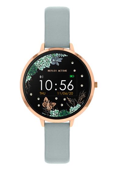 Reflex Active Series 3 Black Floral Dial Smart Watch RA03-2040