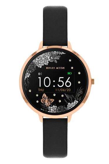 Reflex Active Series 3 Rose Gold Black Floral Smart Watch RA03-2076