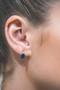 Georgini Aurora Australis Earrings Silver/Sapphire IE978B