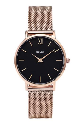 Cluse Minuit Mesh Rose Gold Black Cw0101203003 Bijoux Collection Sydney Australia