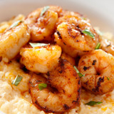 Extra small shrimp and grits.