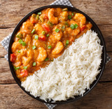 Cooked popcorn size 91-30 shrimp etouffee´ with wild caught USA Gulf shrimp