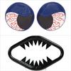 XFR Yamaha Banshee YFZ350 87-06 JAWS FRONT BUMPER HIGH GLOSS BLACK W BLUE BLOODSHOT HEADLIGHT COVERS