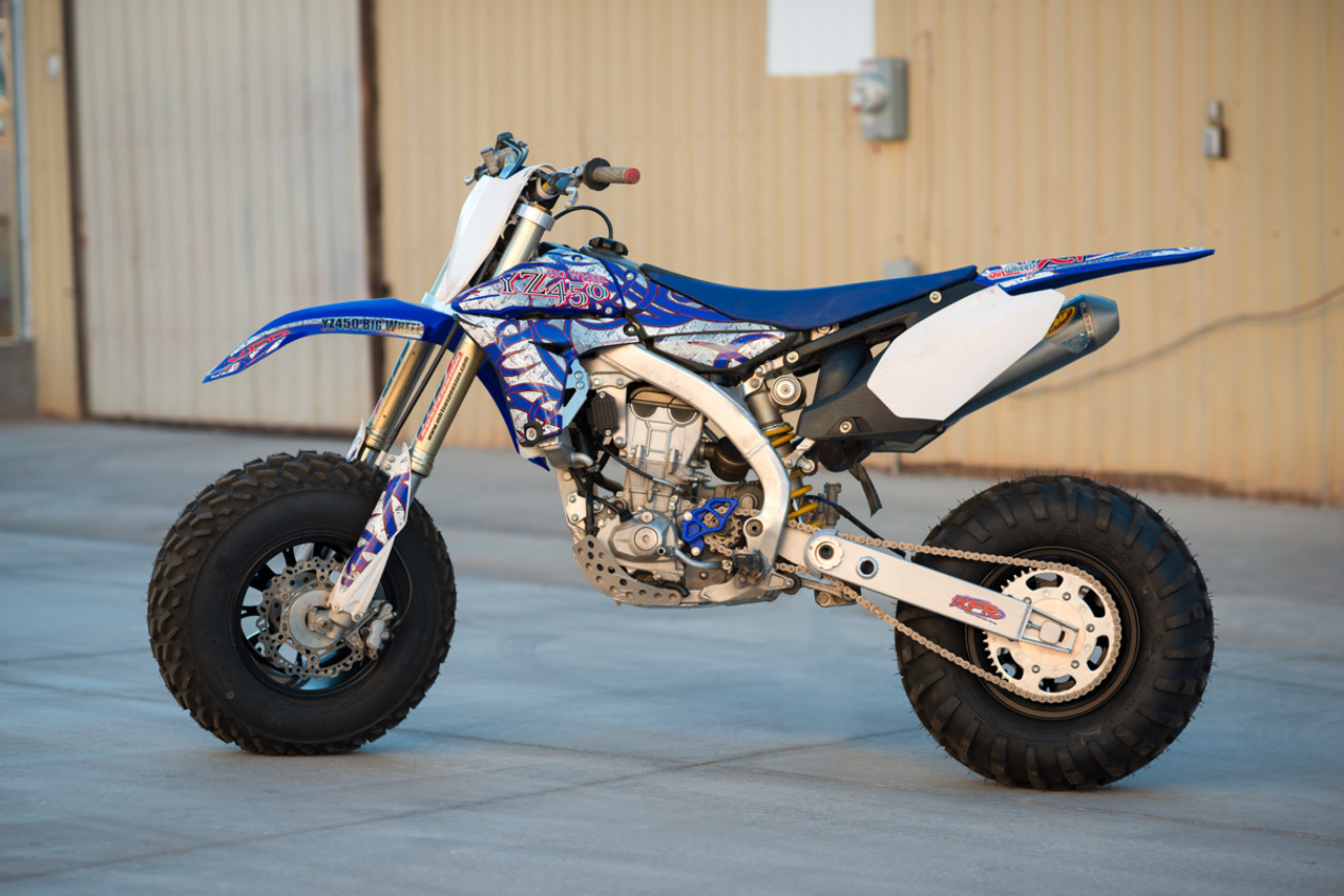 The YZ450 Big Wheel kit is the ultimate in big wheel conversion kits! Order yours today!