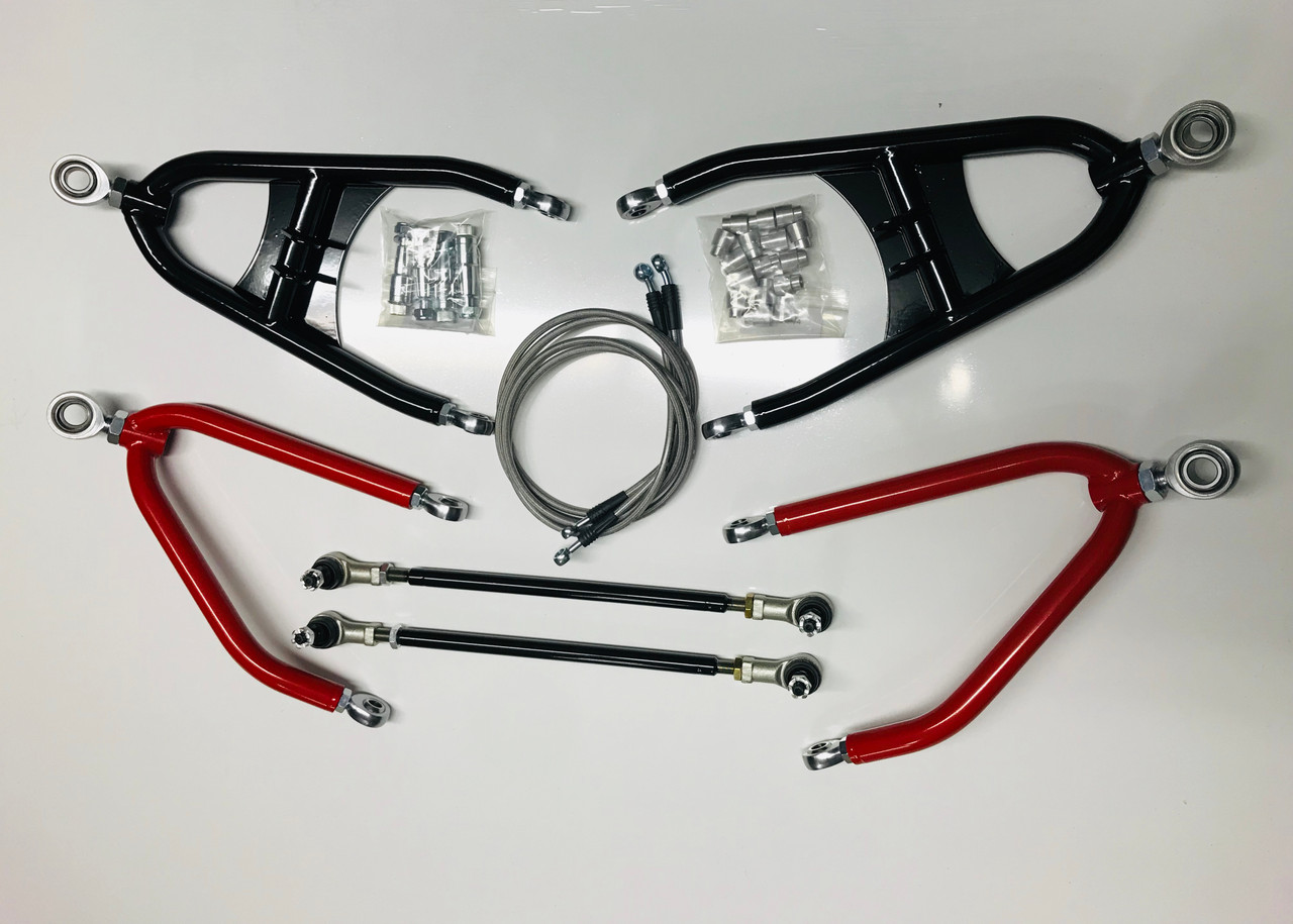 Yamaha Blaster Stainless Front Brake Lines New 2 Line Kit 3  A-arms Length