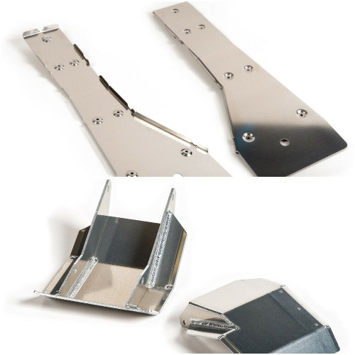 Complete Kit includes: Full Chassis Frame Plate and Swing arm Skid Plate (Top and bottom view)