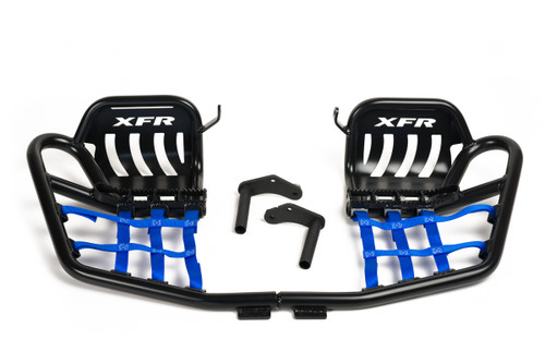 Black Nerf Bars with Blue Nets