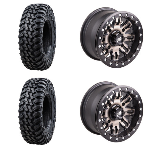 Full Set of Four Tires and Wheels Professionally Mounted