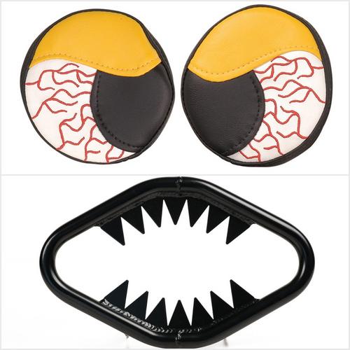 Yamaha Banshee YFZ350 87-06 High Gloss Black Jaws Bumper w/ Yellow Headlight Covers | XFR