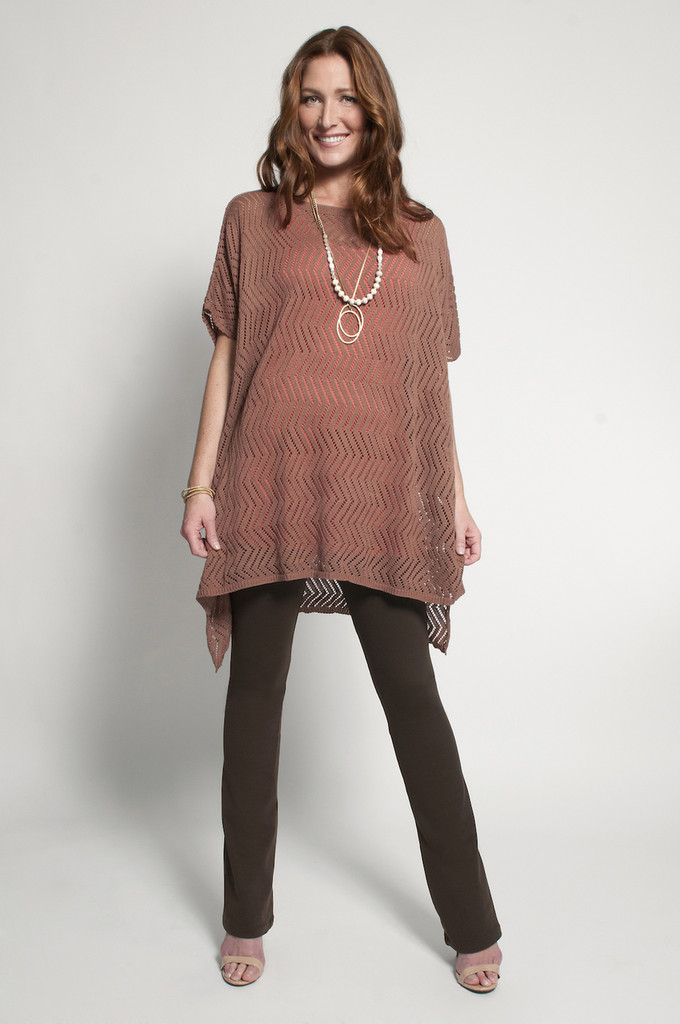 Brown Bootcut (shown with Poncho in Cognac)