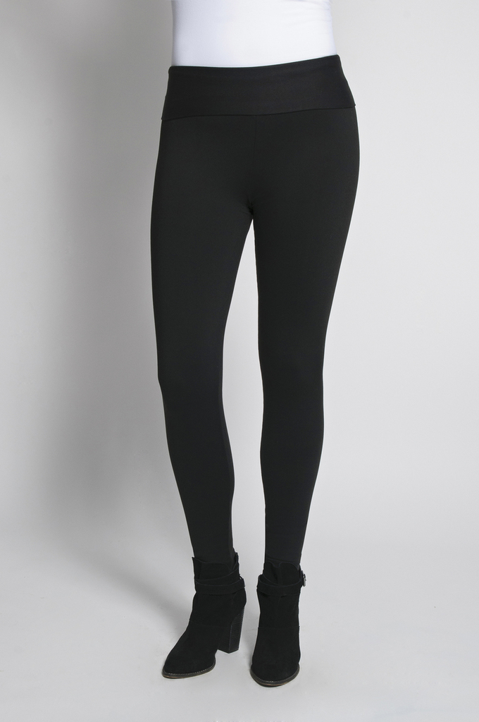 Leggings Front View: Black