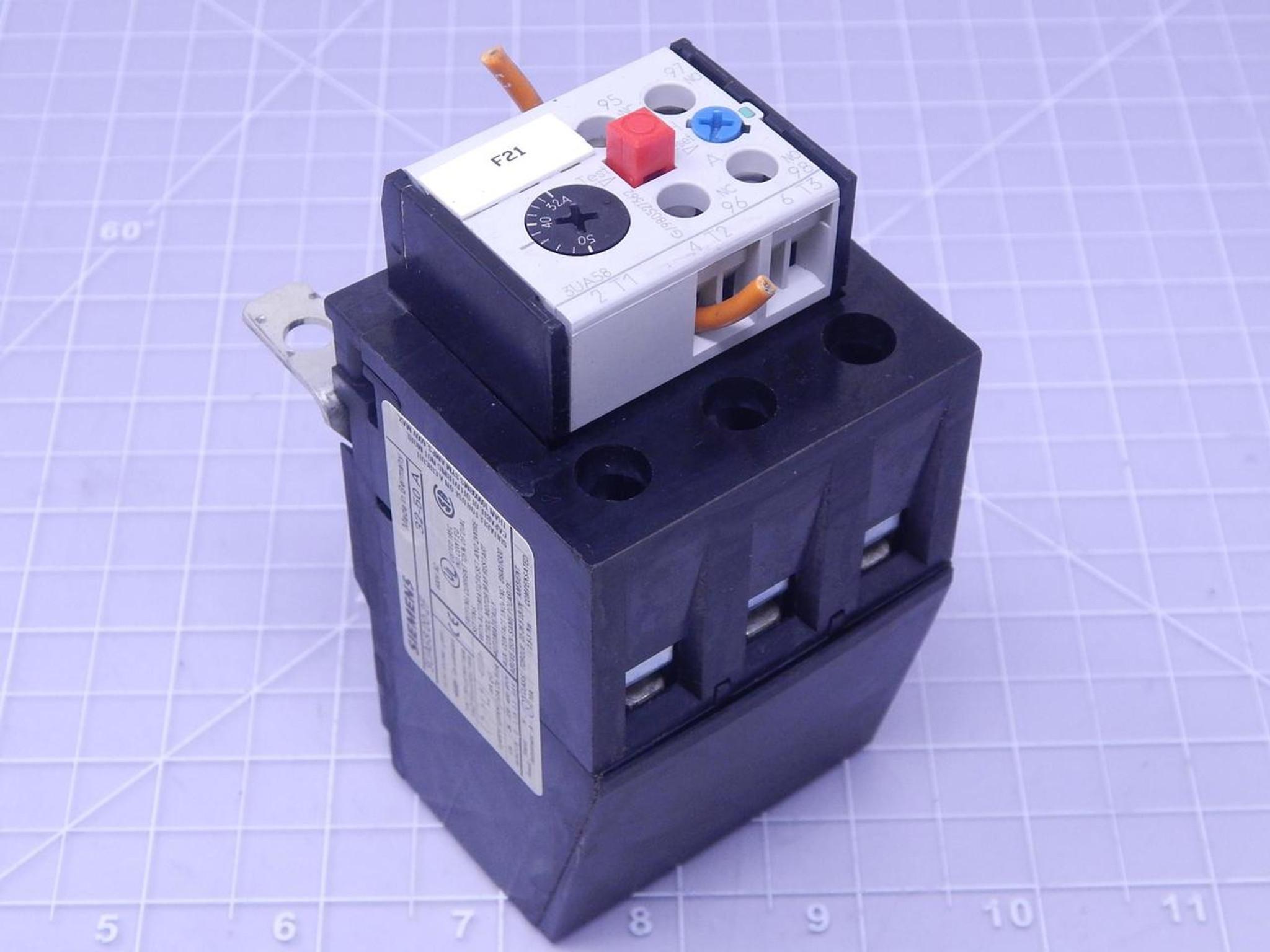 Siemens 3UA58 00-2F Overload Relay T115588