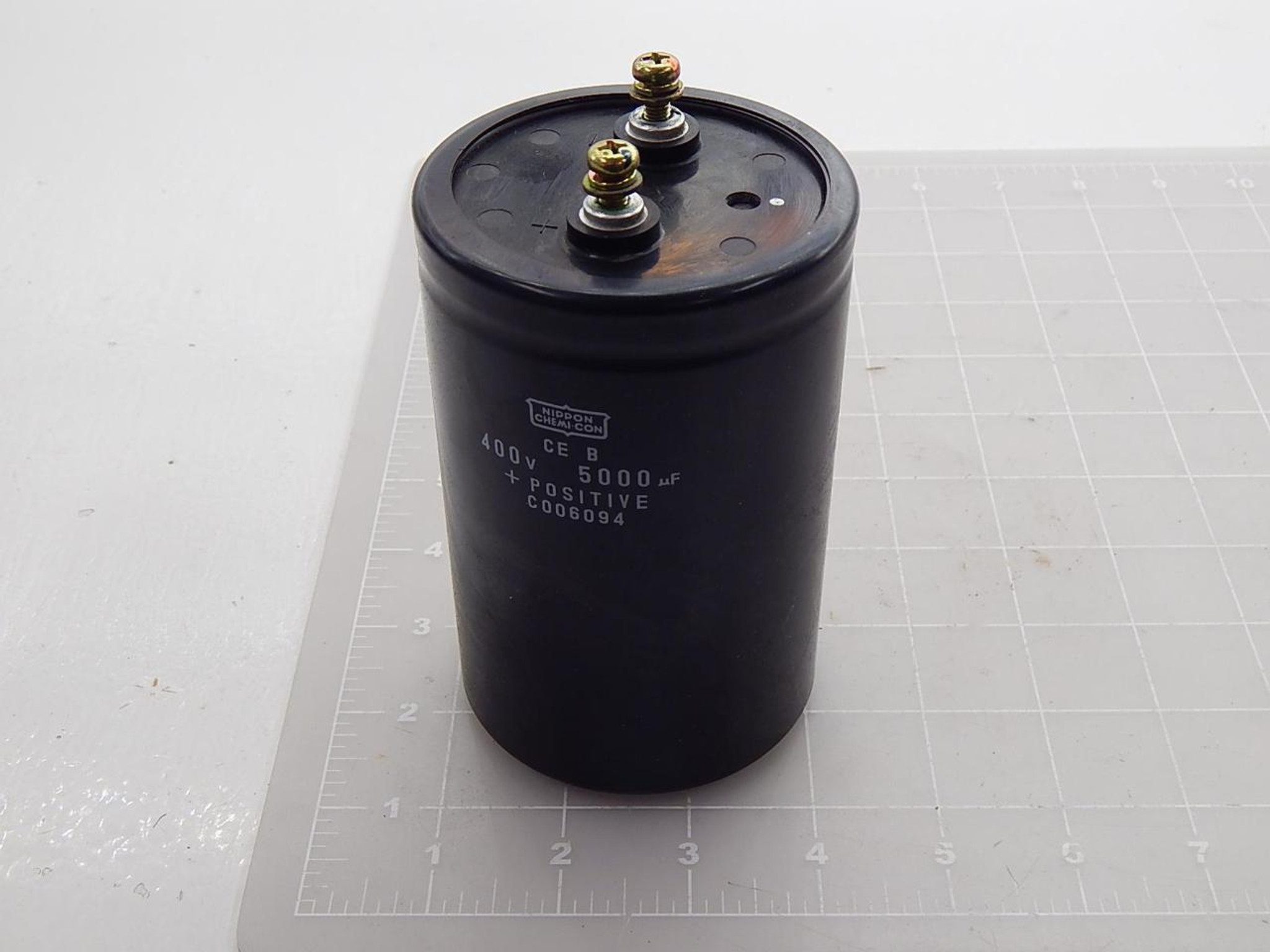 Nippon Chemi-Con C006094 CE B Capacitor, 5000 uF, 400 V T89092