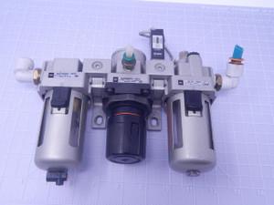 SMC NAR3000-N03 Pneumatic Regulator Set Lock T129270