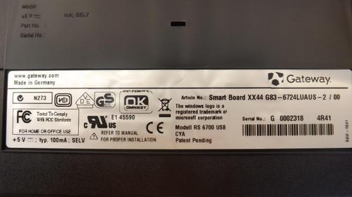 Gateway XX4 G83-6724LUAUS-2 USB Keyboard with Card Reader T24768