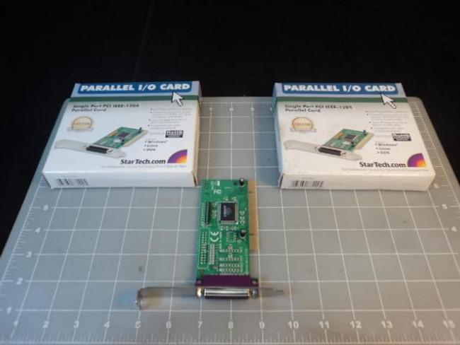 2 PARALLEL I O PAR5408A PCI IEEE 1284 CARD LOT T13129