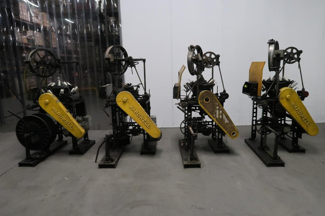 Lot of 4 Wardwell     Braider Machines For Sale