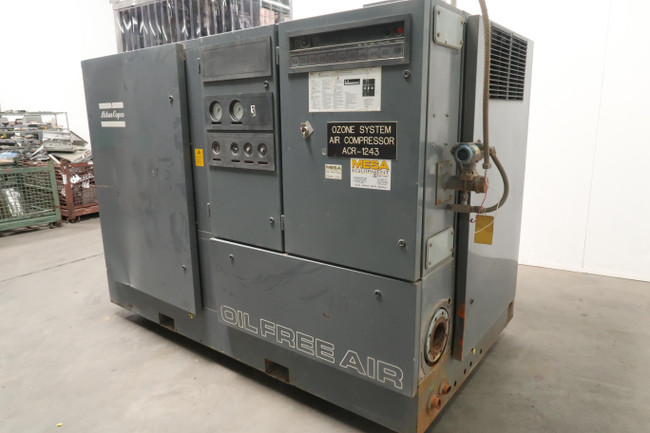 Atlas Copco  ZA4-62    Low Pressure Oil Free Screw Compressor 200 Hp For Sale