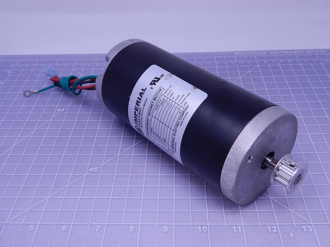 Imperial Electric SMB004    Permanent Magnet Motor 1/4 HP 115 VDC 1800 RPM 3.0 Fr For Sale