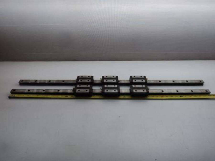 "Lot of 6 THK Y61336KB Linear Ball Bearings 42"" Long T17774"