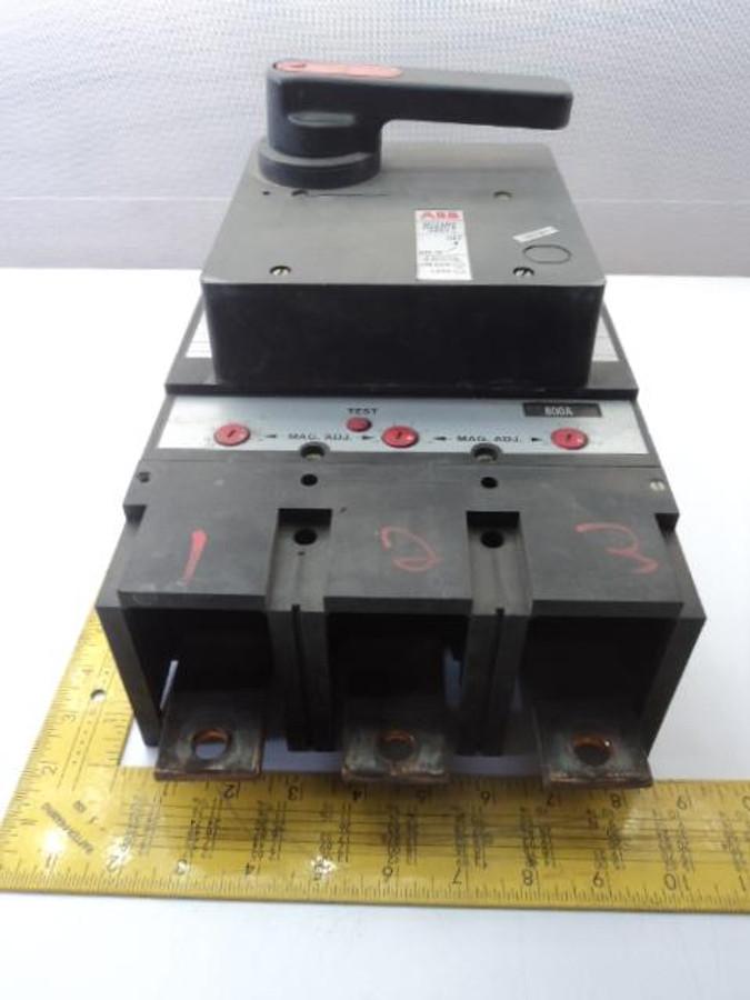 ABB MG-8683 UXAB 751530 R999 Circuit Breaker 600VAC 125/250VDC TYPE MH 3P 800A T17002
