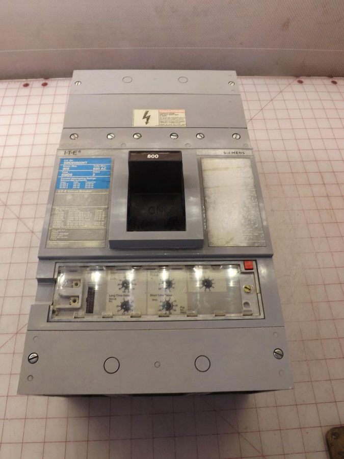 Siemens SMD69800NT, SMD6 800 A, 3 Pole,  600V ITE Circuit Breaker T33211