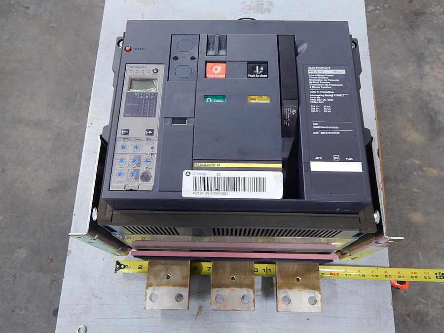 Square D, GE NW 20 H1, 107W5379, 151X1230KA01SA07 Masterpact Low-Voltage Power Circuit Breaker 2000 Amps T93624 For Sale