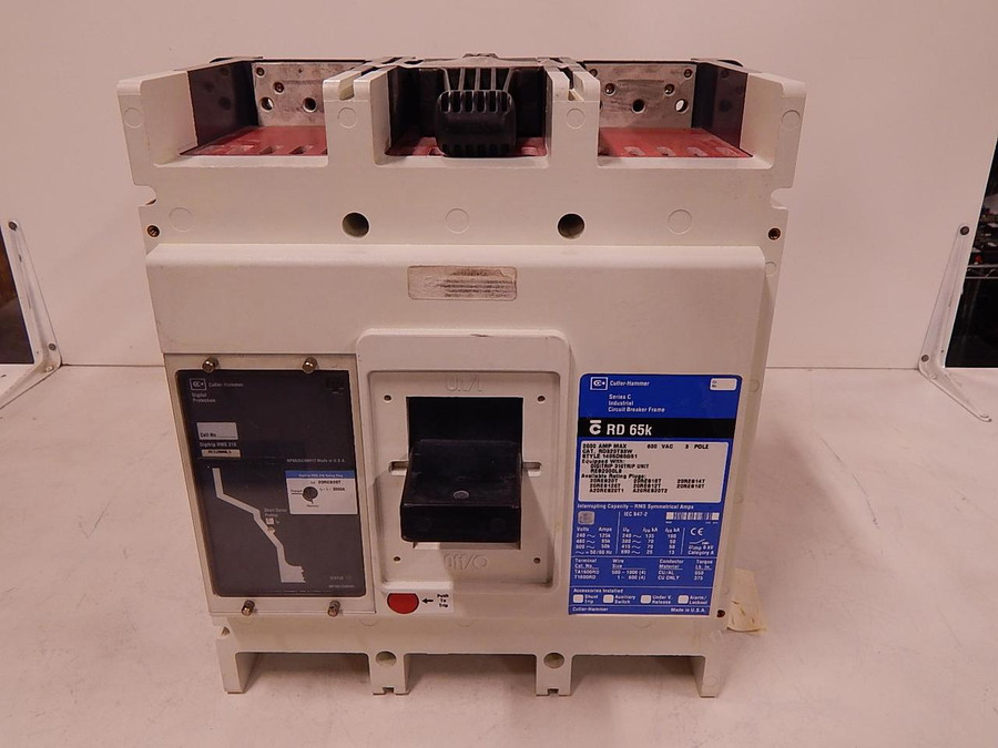 Cutler-Hammer QPHW1020, CRD65K, Digitrip RMS 310, 2000 Amp, 600 VAC 3 Pole Digitrip RMS 310 Circuit Breaker Frame T95805 For Sale