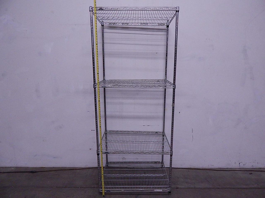 Lot of 9 Inter Metro Industrial Shelving 36x24x86 T106771 For Sale