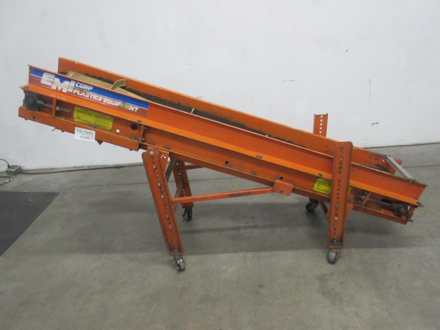 EMI RMC-12-7-20 Plastic Processing Incline Belt Conveyor 82 x 5.5 In T110441 For Sale