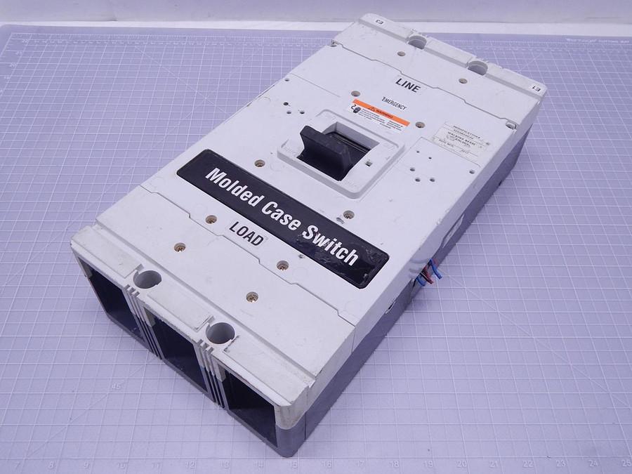 Eaton HMDL3800F Circuit Breaker 3 P 800 Amp 600 Volt T112558 For Sale