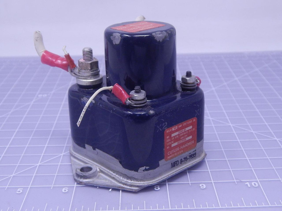 Cutler-Hammer MS24141-D1 Aircraft Relay 28VDC, 115VAC T127452 For Sale