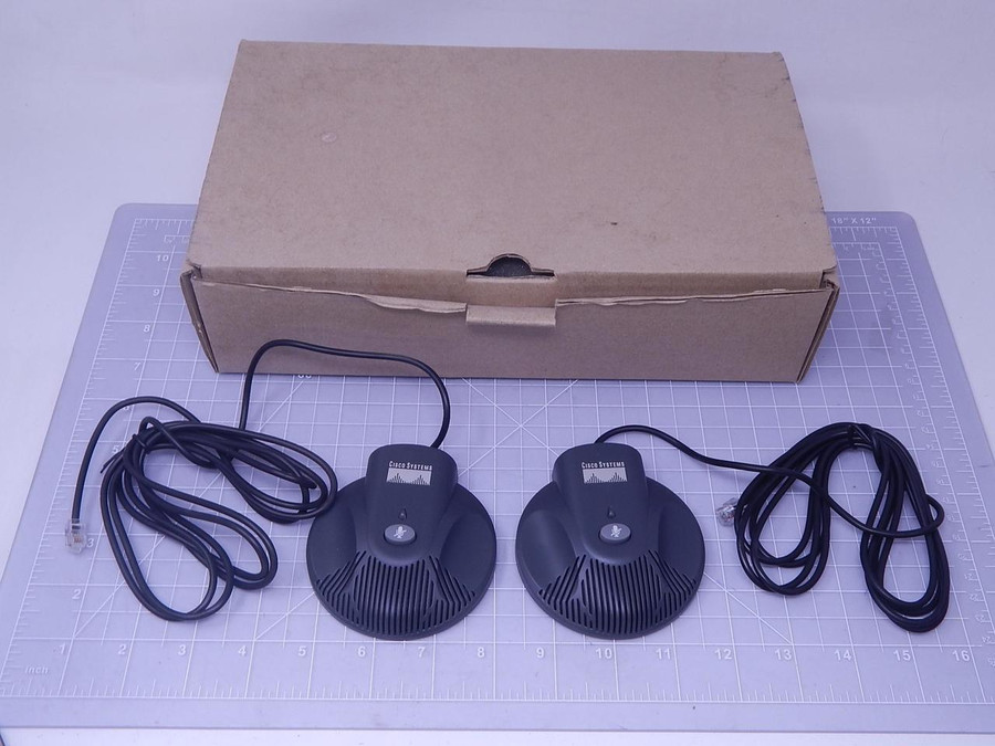 Lot of 2 Cisco CP-7936-MIC-KIT Conference External Microphones T128120 For Sale