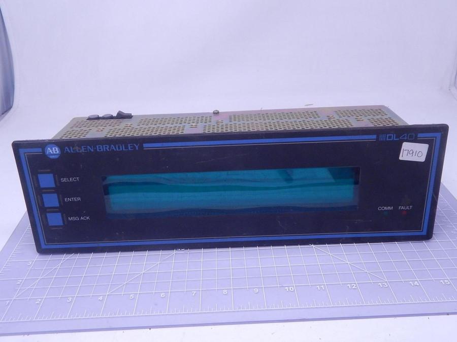 Allen Bradley 2706-E23J16B1 DataLiner DL40 2-LINE 16K Message Display T127968 For Sale