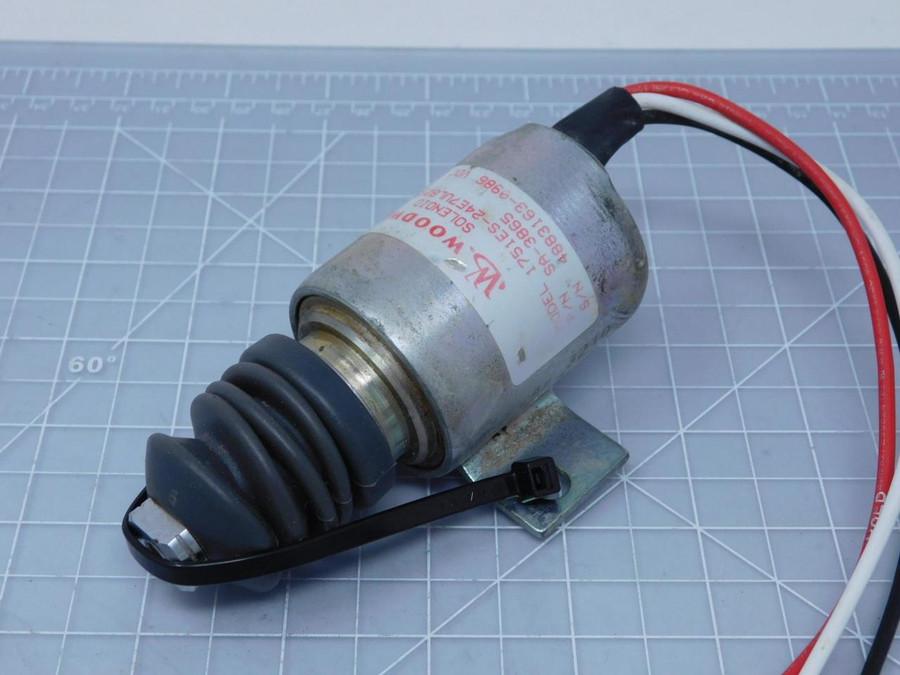 Woodward 1751ES-24E7ULB2S5 Diesel Shut Down Solenoid T128079 For Sale