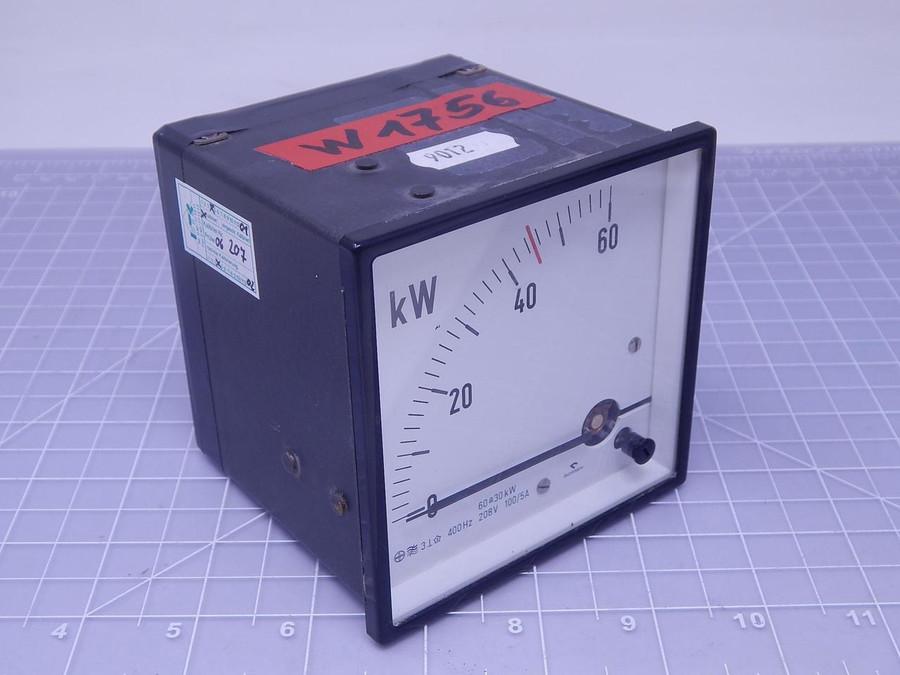 Gossen 1901.504 Analog kW Panel Meter T128292 For Sale