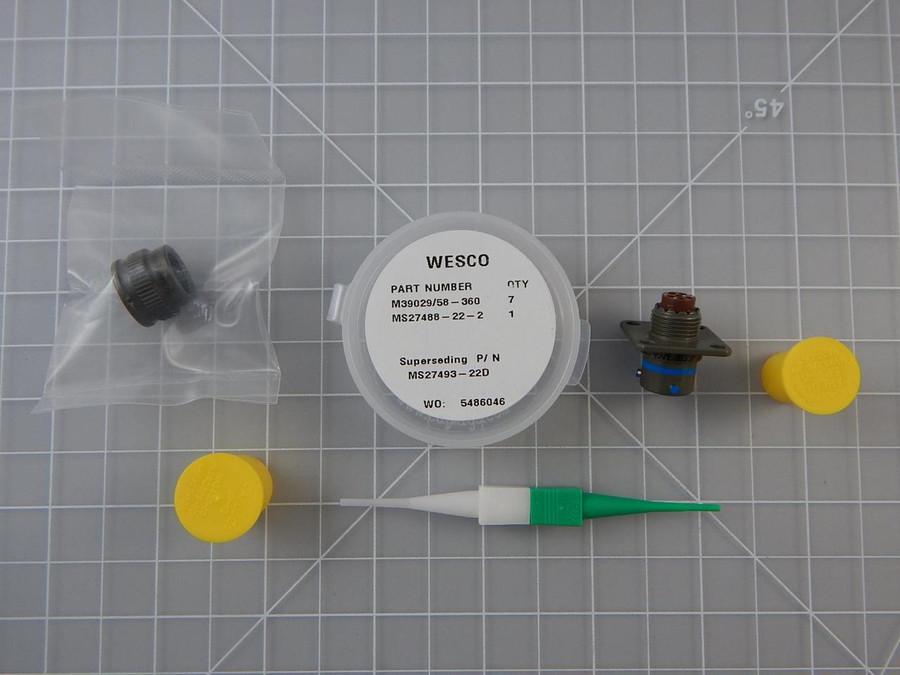 Aero MS27497E8B35P    Circular MIL Spec Connector 6 C 6 # 22 D PIN w/ Circular MIL Spec Contacts For Sale