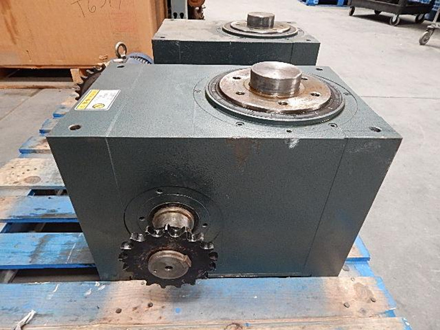 """Hong Bang Industrial Automation H180-4-270-R Rotating Indexer 4 Position Indexig Tablet trasmissing 60 mmmotor Shaft (2 3/8"""") T56649"""