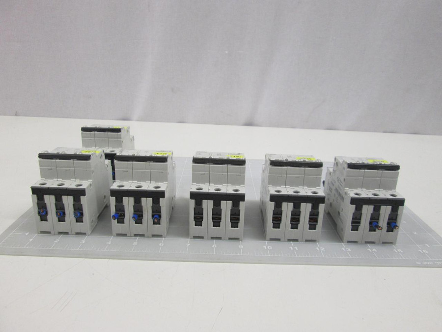 Lot of 6 Siemens 5SY6316-7 Supplementary Protector, 3P, 16A , Curve C T60281