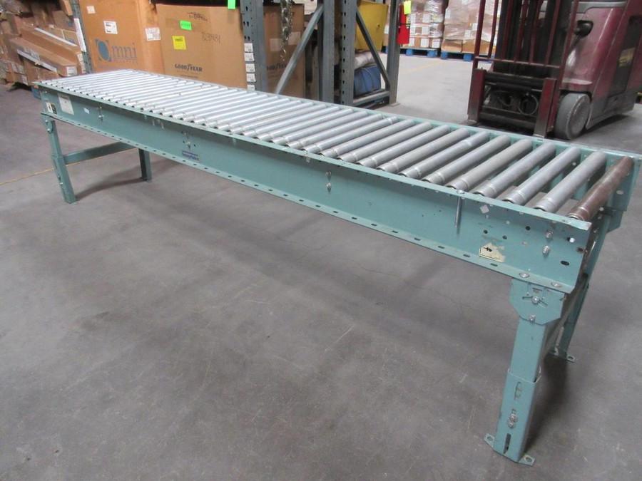 Interlake Roller Conveyor 120'' x 25'' w legs T75006