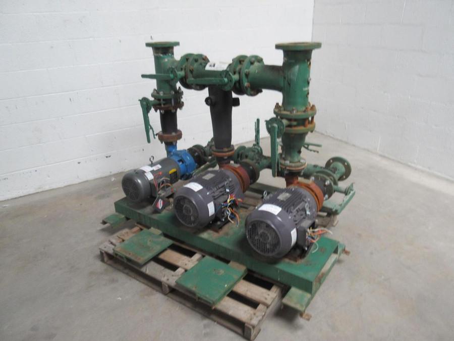 Peerless Pump C610 Industrial Pump System W/ 3 7.5 HP Pumps 150 GPM