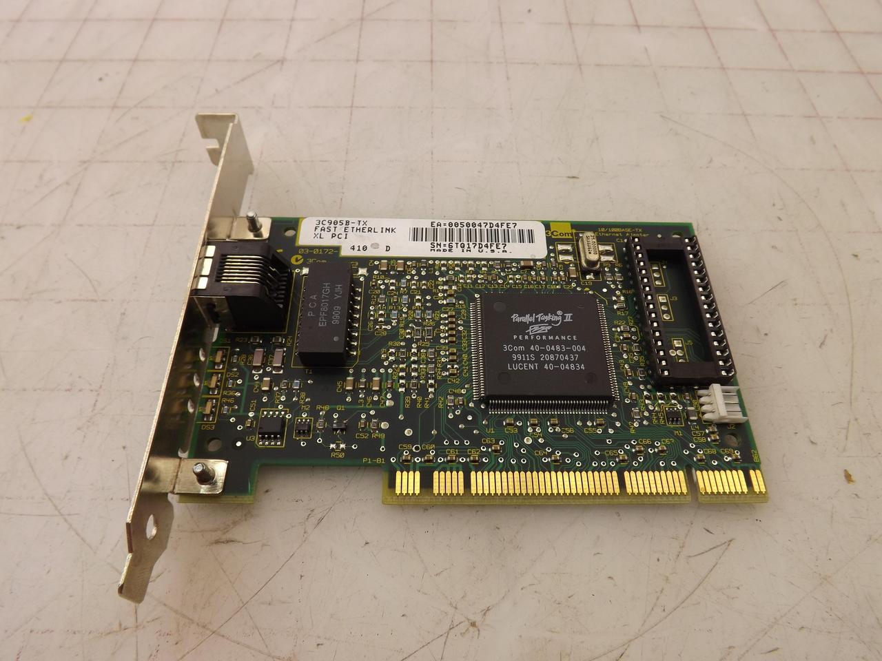 3COM 3C905B-TX 10100BASE-T ADAPTER DRIVERS FOR WINDOWS XP